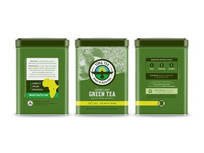 Tea Tin Full Mockup triangle icons africa infographic instructions directions hawk mockup tea branding rwanda