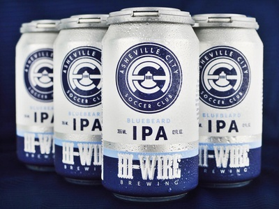 Hi-Wire Bluebeard IPA for the Asheville City Soccer Club