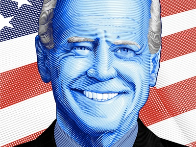 Joe Biden Poster vector illustration adobe illustrator poster portrait
