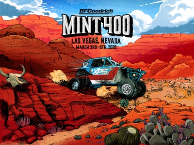 The mint 400 Visuales illustration desert off road