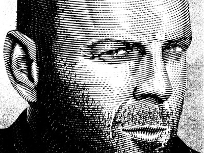 Bruce adobe illustrator etching ilustration portrait bruce willis