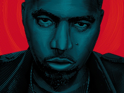 NAS Portrait vector adobe illustrator nas portrait