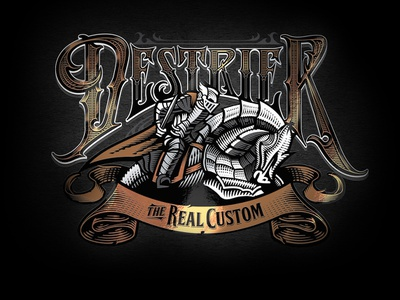 Logo Destrier horse destrier motorcycles logo