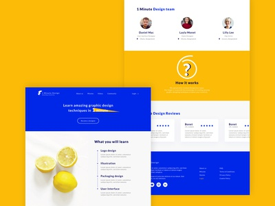 1 Minute Design Landing Page