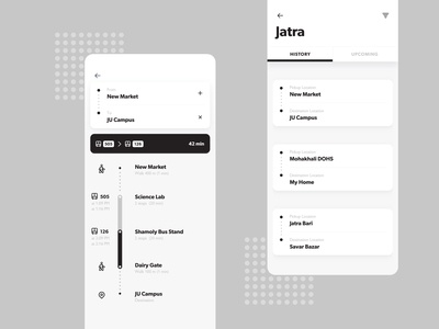 Jatra, Travel UI Design