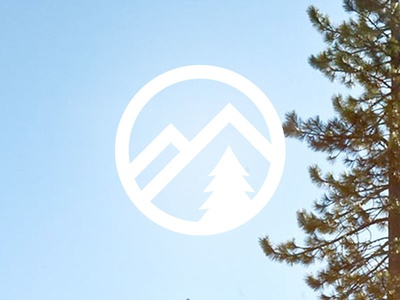 Personal Logo Mark mountains tree logo