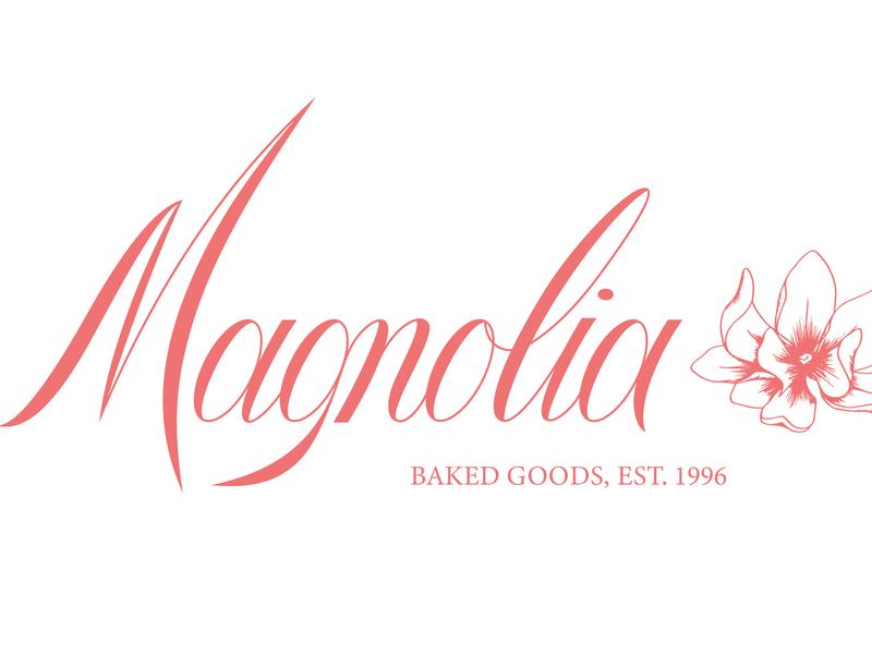 Magnolia branding design floral illustration vector vector lettering typography lettering logo