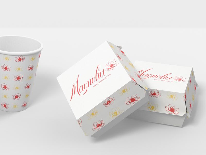 Magnolia - mockups identity design branding floral vector handlettering vector lettering typography lettering illustration
