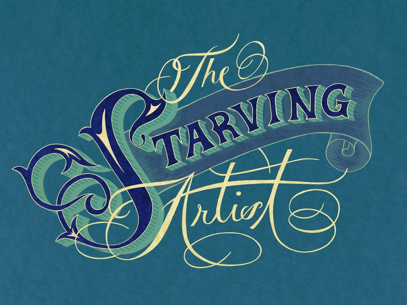 The Starving Artist lettering handlettering typography illustration