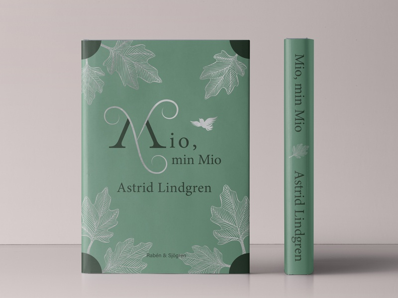 Mio, min Mio - book cover redesign book cover design book cover floral lettering handlettering vector lettering vector typography illustration