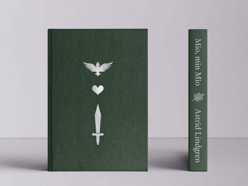 Mio, min Mio - book cover redesign book cover mockup book cover design book cover floral lettering handlettering vector lettering vector typography illustration