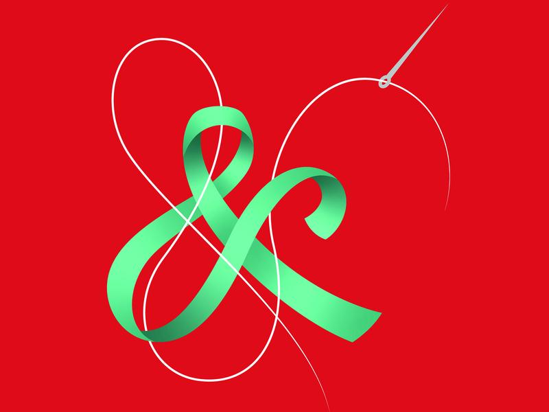 Ampersands - poster trio ampersand design lettering vector typography illustration