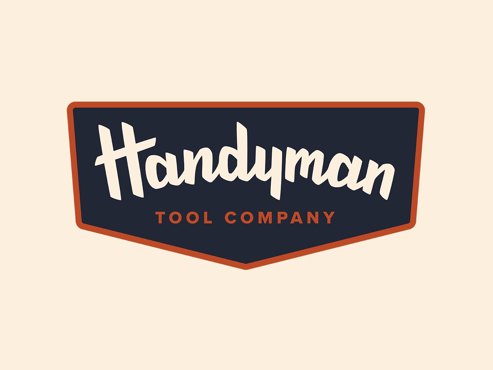 Handyman Tools - Logo visual  identity typography vector logo branding handlettering vector lettering lettering