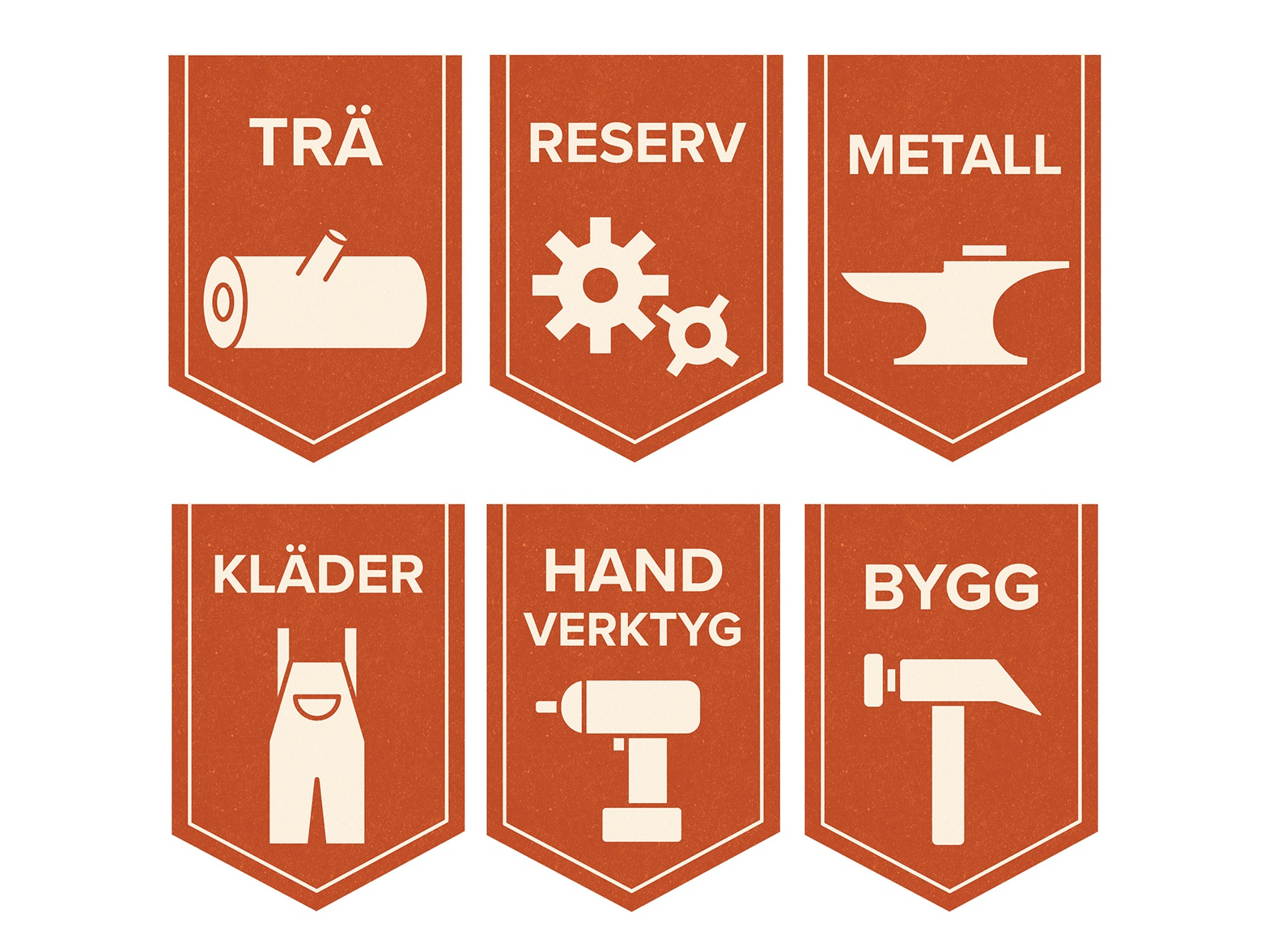 Handyman Tools - Category Tags/Icons ui icon logo visual  identity design branding flat illustration vector illustration
