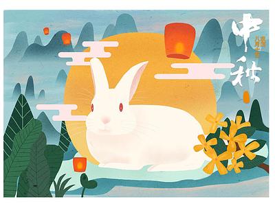 mid-autumn festival illustration