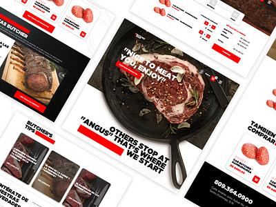 The Butcher shop - Ecommerce flat web app design