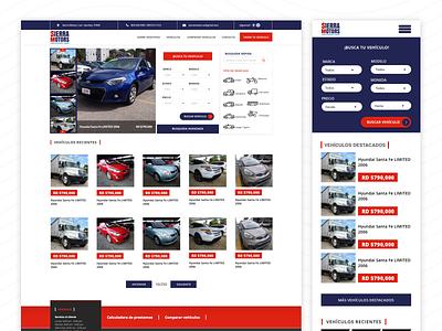Sierra Motors - Website car design app ui