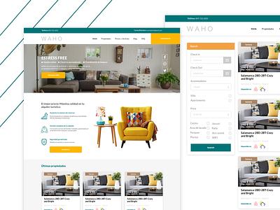Waho - Website ui web ux design