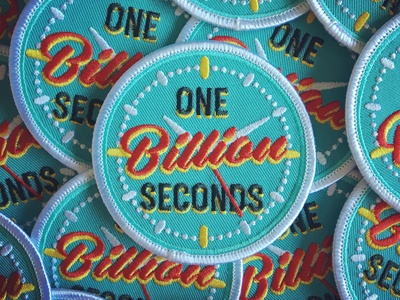 One Billion Seconds Embroidered Patch