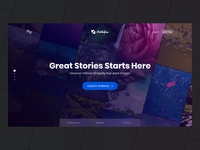 Landing Page Concept - Stock Image