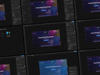 Adobe XD Dark Mode UI Concept