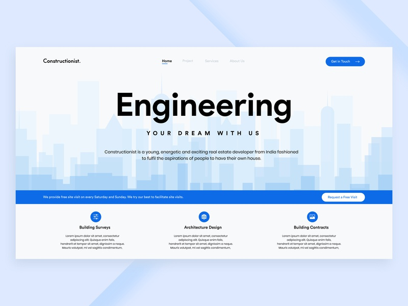 Construction Company - Landing Page by Mohammed Thufail on