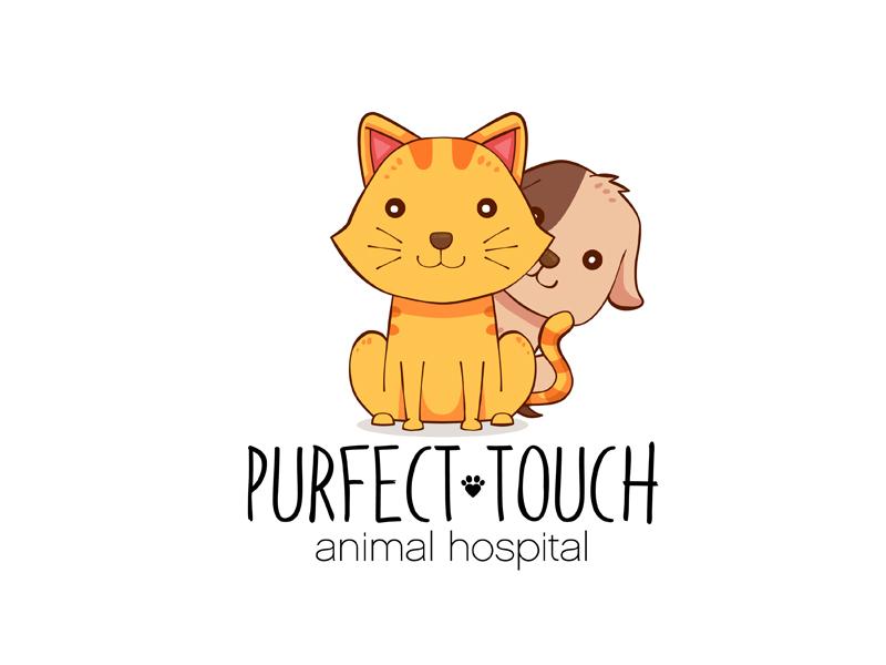 Purfect Touch adobeillustrator visualidentity logoinspirations designinspiration graphicdesigner vector logo brandidentity branding veterinary animals graphicdesign