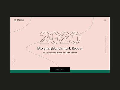 BMR / Matcha landing page design typography interaction clean interface ui design web ux promo webdesign web designer website