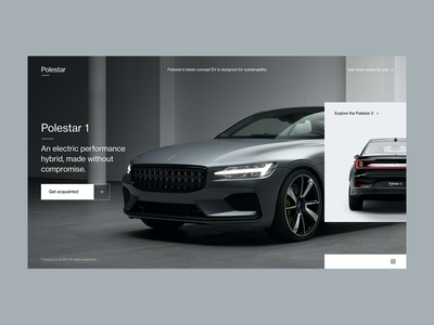 Polestar / Concept slider motion volvo cars polestar promo interaction concept minimal typography website design clean ux ui