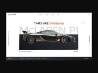 McLaren P1 / Hover Interaction