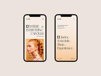AUTUMN concept responsive promo fashion minimal clean web design typography ux ui