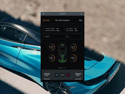 MC720s user interface automotive interface clean design ux ui