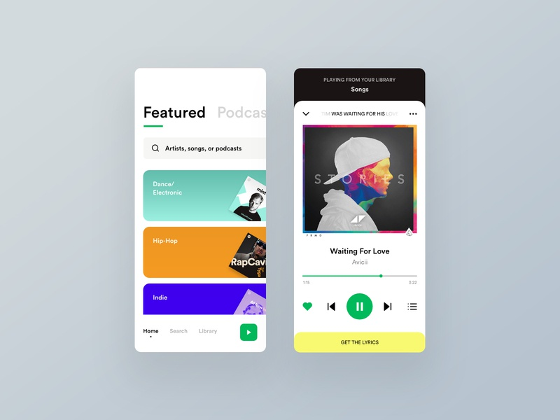 Spotify Redesign Concept track app ux ui uxinspiration song music player spotify music player creative clean clear magazine minimal typography uidesign