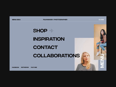 Menu Hover Idea after effects animation clean interaction interface minimal typography ui ui design web web design website concept fashion motion uxinspiration