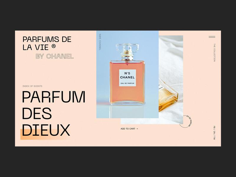 PARFUMS DE LA VIE / Concept website web designer webdesign promo ux web ui design interface clean interaction typography design concept parfum landing page