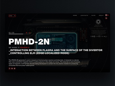 Web Page for Futurictic device 02 invite dribbbleinvite concept future 3d eugeneberlin scifi industrial ui ux web page