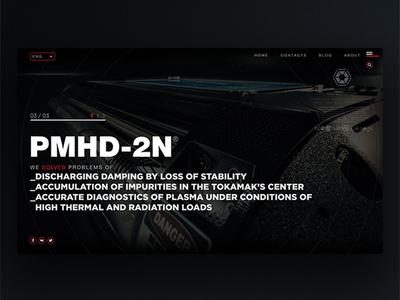Web Page for Futurictic device 03 invite dribbbleinvite concept future 3d eugeneberlin scifi industrial ui ux web page