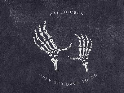 Halloween Countdown scary bones countdown hands hand skeleton halloween