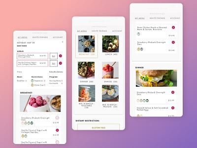Methodology App minimal mobile ios interface ux ui app design app food
