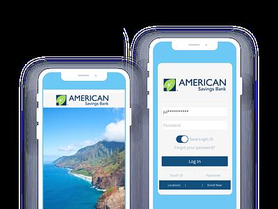 Asb app financial finance hawaii blue mobile app device phone color