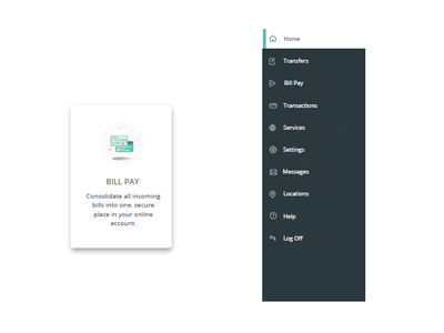 New UI for ASB ui elements interface design card style card illustration navigation shadow ui
