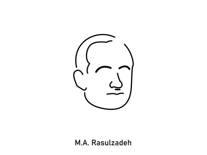 Mammad Amin Rasulzadeh baku rəsulzadə resulzade vector azerbaijan illustration