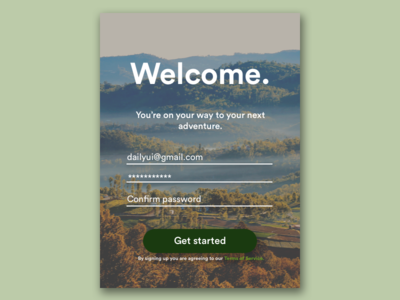 Sign Up Page UI