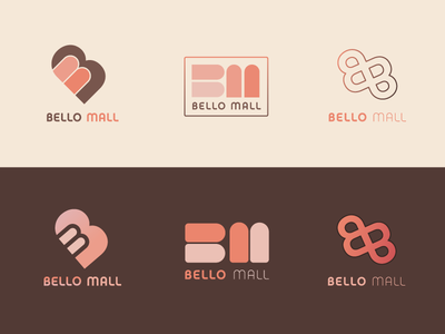 Bello Mall vector brand logo logotype studies