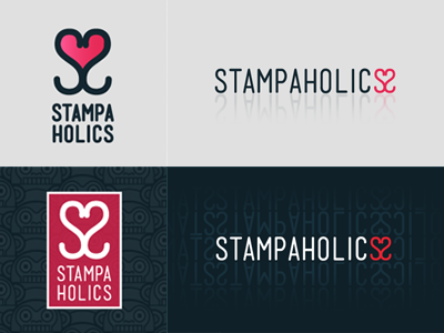 Stampaholics Mensch Logo fabric pattern love heart s2 icon logo