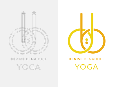 db yoga symmetry construction bindi yoga icon logo