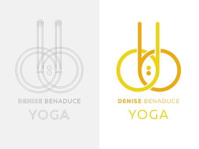 db yoga symmetry construction bindi yoga icon logo