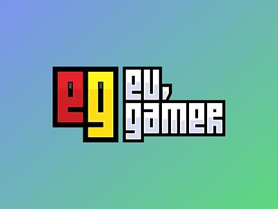 Eu, Gamer chrome 8bit pixel twitch finder gamer logo