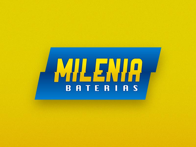 Milenia Baterias electricity energy battery power logo