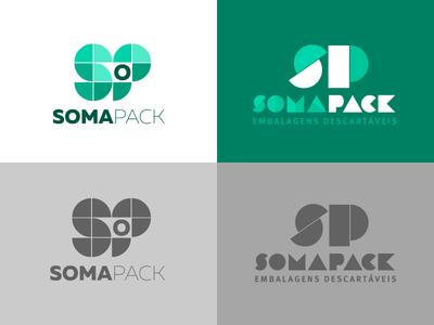SomaPack Construtivist Sketches brazilian construtivist geometric green brand logo